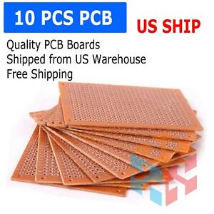 10 Pcs 5x7cm 2x3in Diy Pcb Prototyping Perf Circuit Boards Breadboards Us