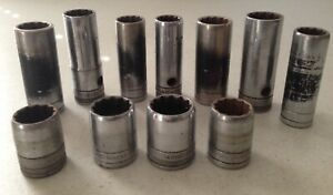 Lot Of 11 Sk 1 2 Drive 12 Point Sockets