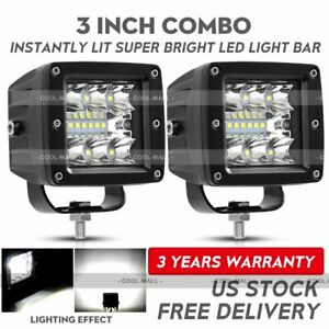 2x 3inch 120w Cree Led Work Light Cube Pods Driving Work Fog Spot Light Flood
