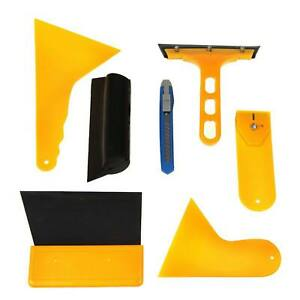 7 In 1 Car Window Tint Vinyl Wrap Tool Kit Scraper Squeegee For Installation