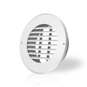 Wall mount Duct Grille Vent For Heating Cooling Ventilation White Steel 6 inch