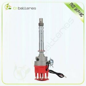Ignition Distributor Ready To Run W Small Red Cap For Chevy Sbc Bbc 305 350 454