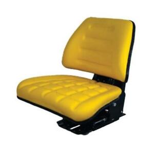 Yellow Triback Style Tractor Suspension Seat Fits John Deere 5400 5410 6110