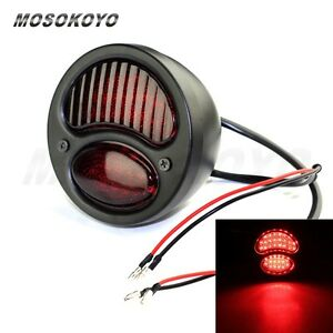 Motorcycle Led Duolamp Taillight Fit Harley Cafe Racer 1928 1931 Passenger New