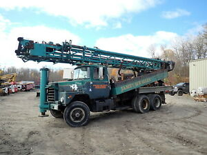 1983 Chicago Pneumatic Cp650 Well Drilling Rig Mack Dm688 Truck Cp 650 Drill