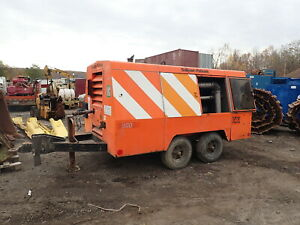 2005 Sullivan D900qh 900 Cfm Air Compressor 150 Psi Runs Exc Cat Dsl Trailer