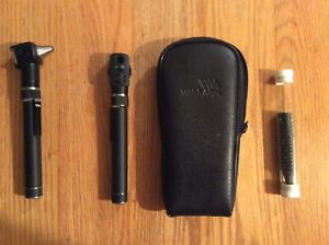 Welch Allyn Otoscope Ophthalmoscope Set Excellent Condition