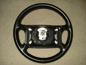 Volkswagen Cabriolet 1990 93 Leather Steering Wheel W Switches Oem Black
