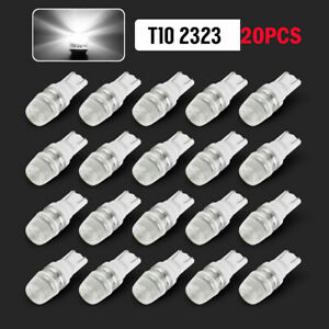 20pcs 6000k White 1w 2323 T10 Wedge Led Car Lights Bulb 12v Lamp 192 168 194