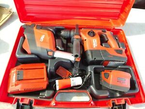 Hilti Te 4 a22 Rotary Hammer Drill W dust Collector W 2 5 2ah Batteries