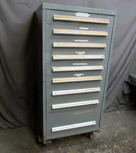 Vidmar Tool parts 9 drawer Cabinet 59 h X 30 w X 28 d