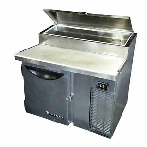 Victory Vpt 46 46 16 7 Cubic Ft Stainless Refrigerated Pizza Prep Table Cooler