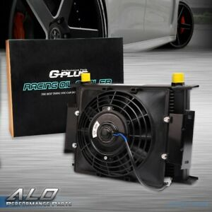 Fit For 30 Row 10an Universal Transmission Oil Cooler 7 Fixed Cooling Fan Kit