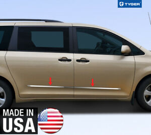 Chrome Accessories Body Side Molding Trim 2 Wide For 11 20 Toyota Sienna 4p
