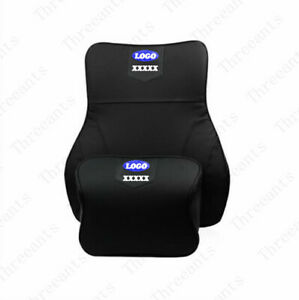 New Cowhide Material With Memory enabled Cotton Core Car Headrest Fit For Ford