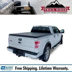 Trail Ridge Hard Tri fold Tonneau Cover For Ford F 150 5 5ft 66 Inch Short Bed