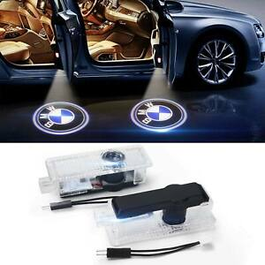 2 Led Car Step Door Welcome Laser Projector Logo Ghost Shadow Light Fit For Bmw