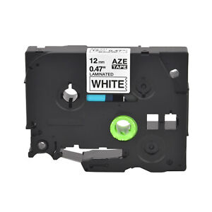 Tz231 Tze231 Black On White Label Tape For Brother P touch Pt d210 12mm 1 2
