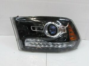 2013 2018 Dodge Ram Factory Oem Left Projector Headlight W Black Bezel R1