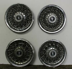 Oem Set 14 Wire Type Hub Cap Wheel Covers 01260015 1978 79 Buick Regal W186