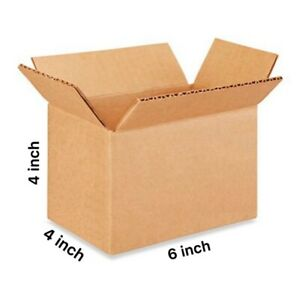 100 6 x4 x4 Cardboard Paper Box Mailing Packing Shipping Box Corrugated Carton