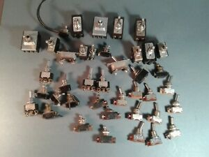 Large Lot Of 40 Vintage Toggle Switches H h Ge More