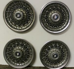Oem 14 Wire Type Hub Cap Wheel Covers 25506533 1980 87 Buick Century Regal W203