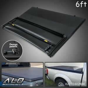 For 2005 2019 Nissan Frontier 6 Feet Bed Assemble Lock Tri fold Tonneau Cover