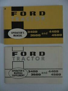 Ford Tractor Operator s Manual 3400 3500 4400 4500 And Manual Supplement