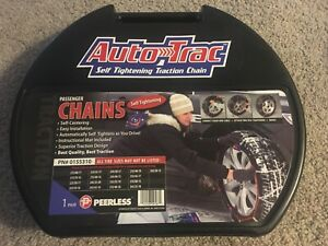 Auto Trac Track 0155310 Tire Snow Chains Self Tightening