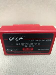 Snap On Fast Track Troubleshooter Cartridge Gm Chrysler Ford Mt2500 2993