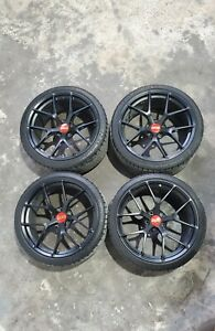 Set Of 4 20 Staggered Bbs Fi r Black Rims With Tires For F82 f83 Bmw M4