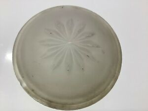 Frosted Glass Lens Early Automobile Interior Lamp Dome Light 2 15 16 Vintage