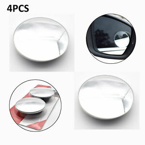4pcs Car 2 Dia Self Adhesive Round Convex Rear View Rearview Blind Spot Mirror