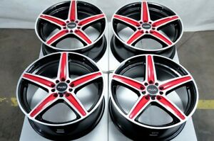 16 Red Wheels Fits Toyota Camry Matrix Prius Rav4 86 Celica Corolla Civic Rims