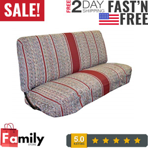Baja Saddle Blanket Bench Full Size Seat Cover Fits Chevrolet Dodge Truck Red