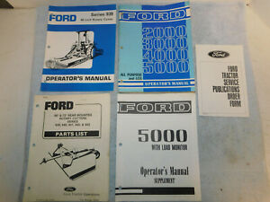 Ford 2000 3000 4000 5000 All Purpose Lcg 939 Rotory Tractor Operator s Manual