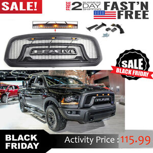Grille Grill For Dodge Ram 1500 2013 2018 Mesh Grille Rebel Style Front Bumper