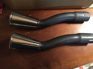 1965 1966 Ford Mustang Exhaust Tips Gt New Mint Set
