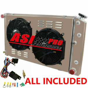 3 Row Radiator shroud Fan relay For 68 87 Chevy Chevelle el Camino At mt 69 72
