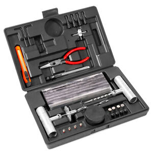 64 Piece Tire Repair Tools Kit Plug Flat And Punctured Tires For Motorcycle Atv