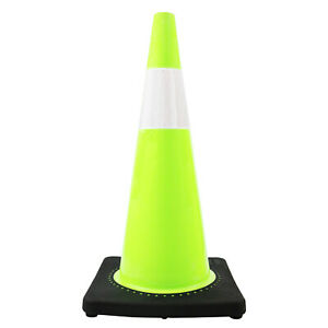 Rk Safety 28 Rk Lime Safety Traffic Pvc Cones With 6 Reflective Collar And Bla