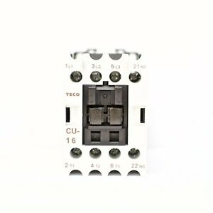 Teco Cu 16 Magnetic Contactor 24vac Coil Voltage 3a1b normally Closed