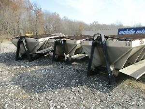 Stainless Steel 11 Salt Spreader Hooklift Rolloff Setup