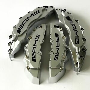 Silver Amg Brake Caliper Covers 11 F 9 R For Mercedes Engineering Plastic