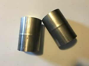 Bundle Of 2 2 5 Id To 2 5 Id Stainless Steel Exhaust Adapter Pipe Coupler