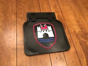 Vintage Volkswagen Mud Flaps In Black With Colored Castle Beetle Bus