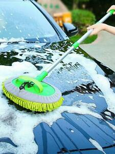 Chenille Microfiber Car Wash Mop Collapsible Long Handle Cleaning Tool For Washi