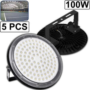5x 100watt Ufo High Power Led High Bay Light Warehouse Factory Work Shop Lamp