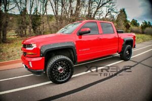Textured Black 14 18 Chevy Silverado 1500 Pocket Rivet Fender Flares Bolt On